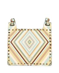 Valentino - Multicolor Rockstud Striped Shoulder Bag - Lyst