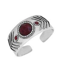 Lucky Brand | Modern Shine Red Jade Bracelet | Lyst