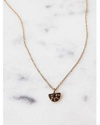 Free People | Metallic Aili Jewelry Womens Sunrise Diamond Necklace | Lyst
