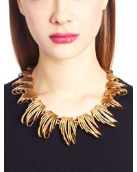 Oscar de la Renta - Metallic Russian Gold Curve Necklace - Lyst