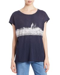 Free People | Blue We The Free Womens We The Free Thunder Tee | Lyst