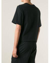 T By Alexander Wang - Black Satin Detail Shorts for Men - Lyst