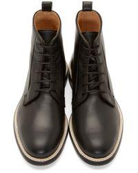 Carven - Black Leather Minimal Boots for Men - Lyst