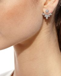 YEPREM - Multicolor Diamond Petal Jacket Earrings - Lyst