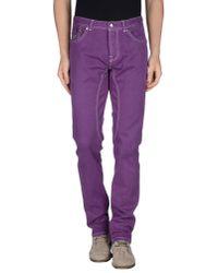 Heysa - Purple Casual Trouser for Men - Lyst