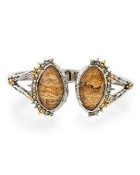 Alexis Bittar - Metallic Imperial Jasper & Crystal Hinged Bangle Bracelet - Lyst