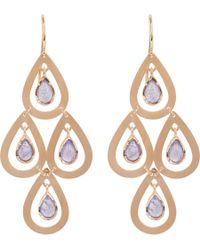Irene Neuwirth - Metallic Tanzanite  Rose Gold Four-drop Earrings - Lyst