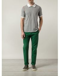 Band of Outsiders - Green Chino Trousers for Men - Lyst