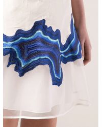 3.1 Phillip Lim | White Embroidered Geode Flounce Dress | Lyst