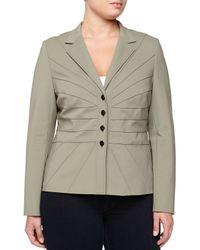 ESCADA - Green Four-button Stretch Twill Jacket - Lyst