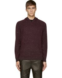 Alexander Wang - Purple Cotton and Cashmere-blend Hooded Sweater for Men - Lyst
