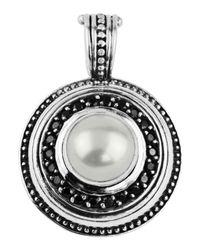 Konstantino | White Round Spinel & Pearl Pendant Enhancer | Lyst