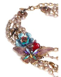 Erickson Beamon - Metallic Iron Butterfly' Pearlescent Appliqué Glass Pearl Spike Necklace - Lyst