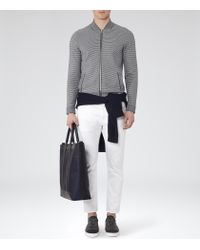 Reiss - Gray Serona Jacquard Knitted Jacket for Men - Lyst