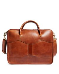 Brooks Brothers - Brown J.w. Hulme Leather Overnight Briefcaseÿ for Men - Lyst