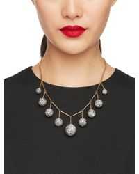 kate spade new york | Metallic Disco Fever Bauble Necklace | Lyst