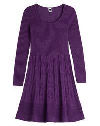 M Missoni - Wool-jersey Sweater Dress - Purple - Lyst