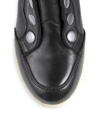 Ash - Black Blade Leather Wedge Sneakers - Lyst