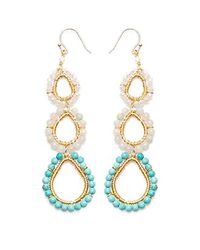 Nakamol - Multicolor Three Tier Earrings-turquoise Mix - Lyst