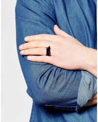 ASOS | Black Geometric Shapes Ring Pack for Men | Lyst