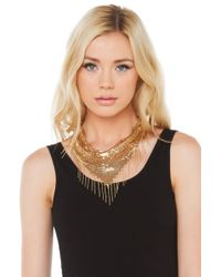 AKIRA | Metallic Bandit Queen Necklace - Gold | Lyst