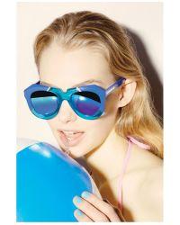 Karen Walker | Blue One Splash Sunglasses | Lyst