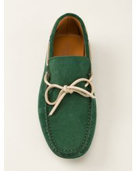 Hackett - Green Classic Moccasin for Men - Lyst