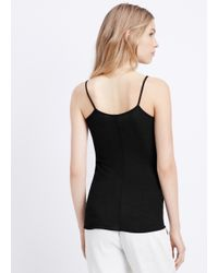 VINCE | Black Under Everything Camisole | Lyst