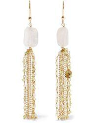 Rosantica | Metallic Etrusca Gold-tone Quartz Earrings | Lyst