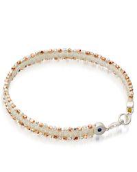 Astley Clarke | White Silver Rock N Roll Rose-Gold Nugget Bracelet - For Women | Lyst