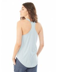 Alternative Apparel | Blue Perfect Organic Pima Shirttail Racerback Tank Top | Lyst