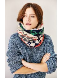 Urban Outfitters | Green Camp Sherpa Funnel Scarf | Lyst