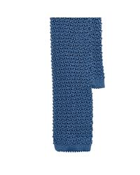 Ralph Lauren Black Label | Blue Solid Knit Silk Tie for Men | Lyst