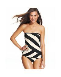 DKNY | Black Striped Bikini Bottom | Lyst