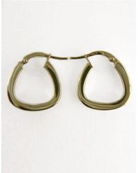 Lord & Taylor - Polished Hoop Earrings In 14k White Gold - Lyst
