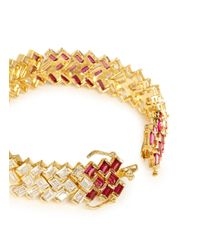CZ by Kenneth Jay Lane | Multicolor Cubic Zirconia Bracelet | Lyst