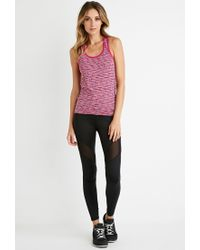 Forever 21 | Purple Active Space Dye Racerback Tank | Lyst