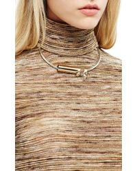 Rodarte - Metallic Gold and Silver Butterfly Choker Necklace - Lyst