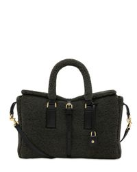 Mulberry - Black Small Roxette Shearling Top Handle - Lyst