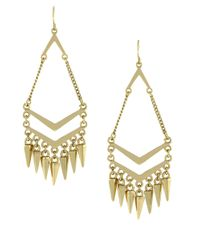 BCBGeneration | Metallic Goldtone Chandelier Earrings With Spike Accents | Lyst