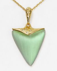 "Alexis Bittar - Green Lucite Crystal Embellished Pendant Necklace, 16"" - Lyst"