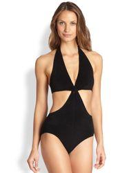 Lisa Marie Fernandez - Black One-Piece Deena Cutaway Swimsuit - Lyst