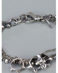 Emanuele Bicocchi - Metallic Studded Ball Bracelet - Lyst