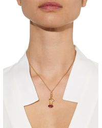 Aurelie Bidermann - Metallic Diamond, Ruby & Yellow-gold Necklace - Lyst