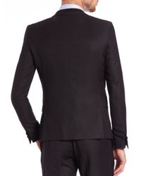 The Kooples - Black Velvet-Trimmed Wool Blazer for Men - Lyst