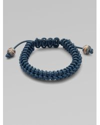 Stephen Webster | Blue No Regrets Woven Leather Bracelet for Men | Lyst
