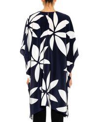 Issa - Blue Kylie Floral-print Silk Tunic Top - Lyst