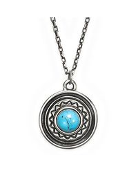 Pamela Love | Metallic Solar Pendant In Antique Silver | Lyst