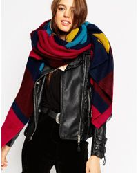 ASOS - Multicolor Oversized Scarf In Woven Jewel Stripe - Lyst