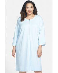 Carole Hochman | Blue Zip Front Waffle Knit Robe | Lyst